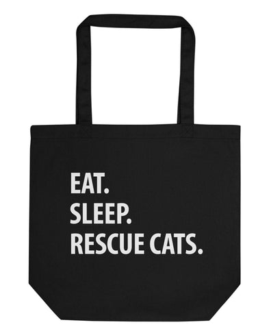Eat Sleep Rescue Cats Tote Bag-WaryaTshirts