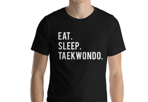Eat Sleep Taekwondo T-Shirt-WaryaTshirts