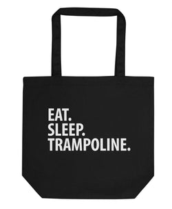 Eat Sleep Trampoline Tote Bag | Short / Long Handle Bags-WaryaTshirts