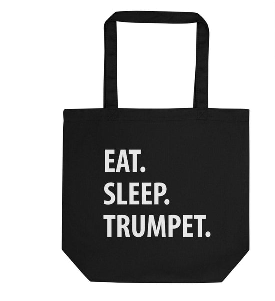 Eat Sleep Trumpet Tote Bag | Short / Long Handle Bags-WaryaTshirts