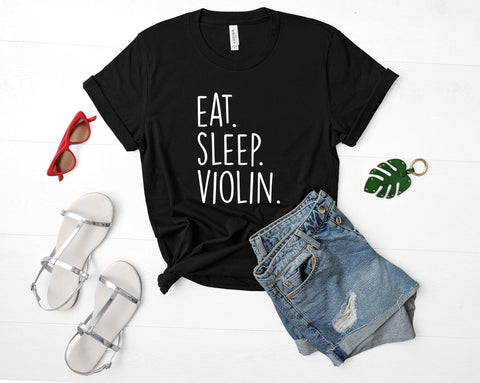 Eat Sleep Violin T-Shirt-WaryaTshirts