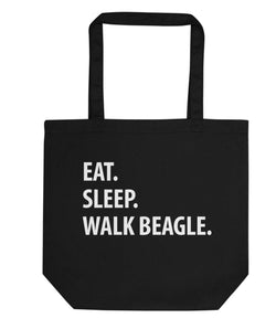 Eat Sleep Walk Beagle Tote Bag | Short / Long Handle Bags-WaryaTshirts