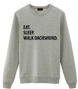 Eat Sleep Walk Dachshund Sweater-WaryaTshirts