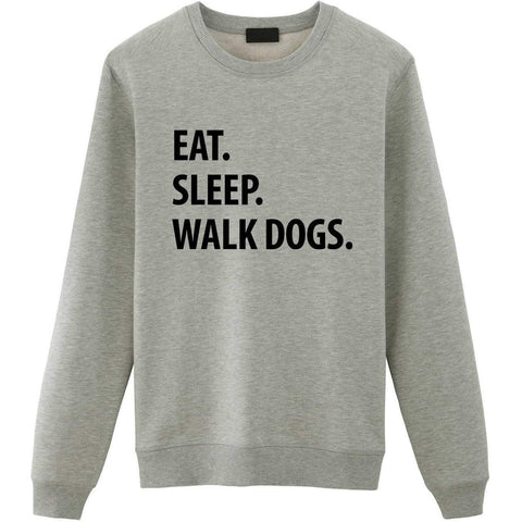 Eat Sleep Walk Dogs Sweater-WaryaTshirts