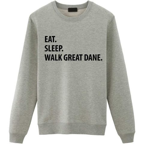 Eat Sleep Walk Great Dane Sweater-WaryaTshirts