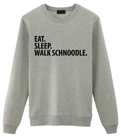 Eat Sleep Walk Schnoodle Sweatshirt-WaryaTshirts