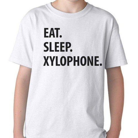 Eat Sleep Xylophone T-Shirt Kids-WaryaTshirts