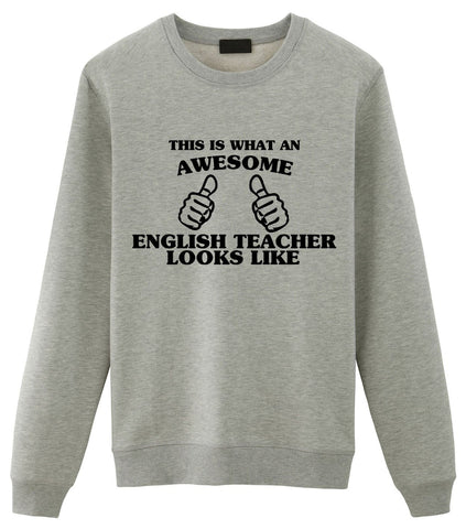 English Teacher Sweater, English Teacher Gift, Awesome English Teacher Sweatshirt Mens & Womens-WaryaTshirts