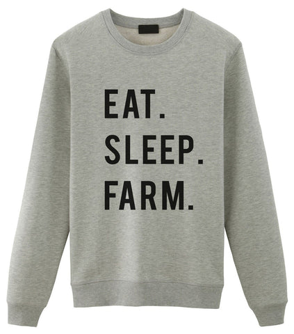 Farmer Sweater, Gifts For Farmers - Eat Sleep Farm Sweatshirt-WaryaTshirts