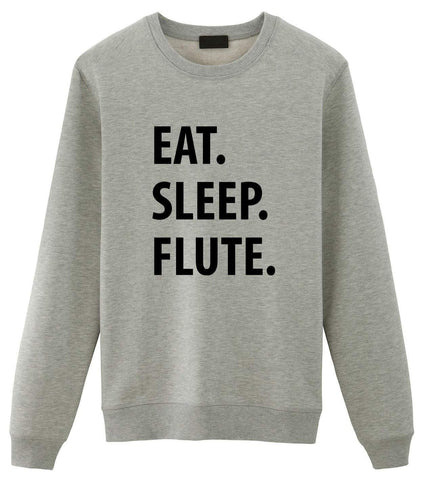 Flute Sweater, Eat Sleep Flute Sweatshirt Gift for Men & Women-WaryaTshirts