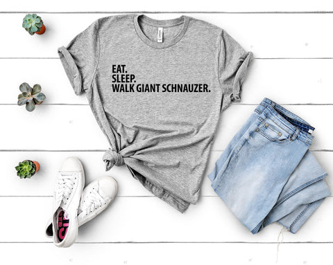 Giant Schnauzer T-Shirt, Eat Sleep Walk Giant Schnauzer shirt Mens Womens Gifts-WaryaTshirts