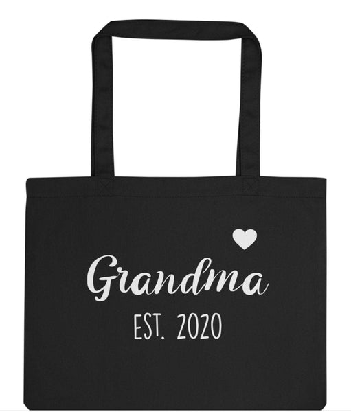 Grandma to be gift, Grandma to be bag, New Grandma tote bag, Personalised Grandma Gift Tote Bag | Long Handle Bags - 2941-WaryaTshirts