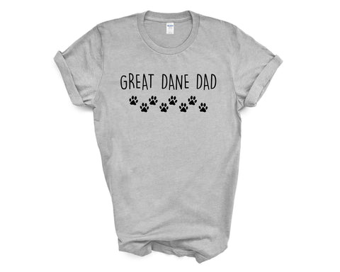 Great Dane T-Shirt, Great Dane Dad Shirt Mens Gift - 2339-WaryaTshirts