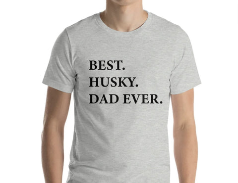 Husky Dad T-Shirt, Best Husky Dad Ever shirt Mens Gift - 1994-WaryaTshirts