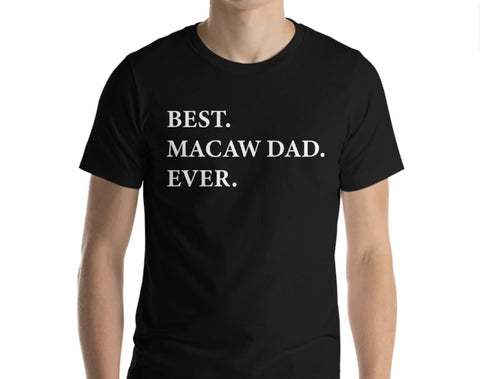 Macaw Dad T-Shirt, Macaw lover gift, Best Macaw Dad Ever Shirt - 1956-WaryaTshirts