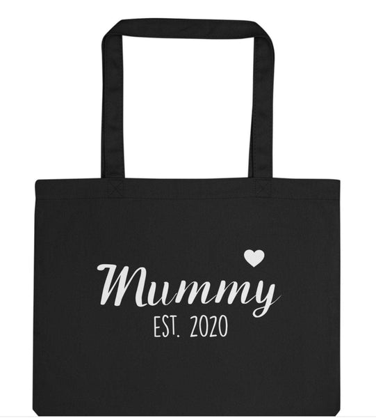 Mummy New Mum Gift Mummy tote bag Mummy to be Personalised Mummy Gift Tote Bag | Long Handle Bags - 2426-WaryaTshirts