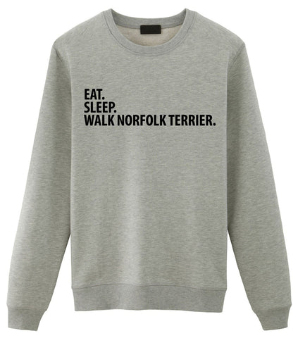 Norfolk Terrier Sweater, Eat Sleep Walk Norfolk Terrier Sweatshirt Gift for Men & Women-WaryaTshirts