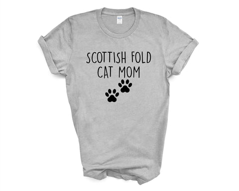Scottish Fold Cat TShirt, Scottish Fold Cat Mom, Scottish Fold Cat Lover Gift shirt Womens - 2392-WaryaTshirts