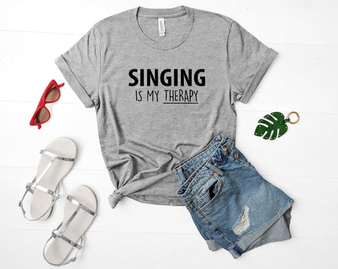 Singing Is My Therapy T-Shirt-WaryaTshirts