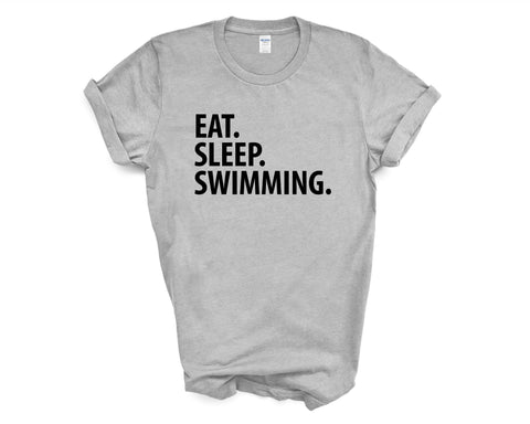 Swimming T-Shirt, Eat Sleep Swimming shirt Mens Womens Gifts-WaryaTshirts