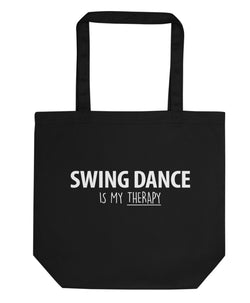 Swing Dance is My Therapy Tote Bag | Short / Long Handle Bags-WaryaTshirts