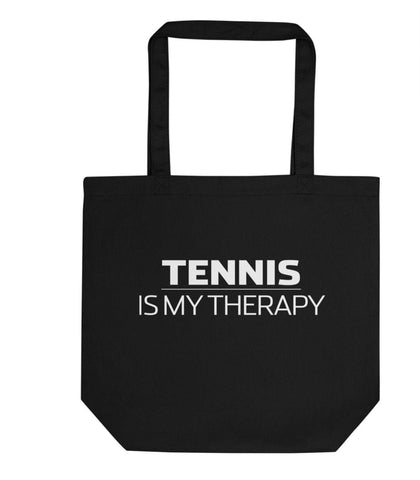 Tennis is My Therapy Tote Bag | Short / Long Handle Bags-WaryaTshirts