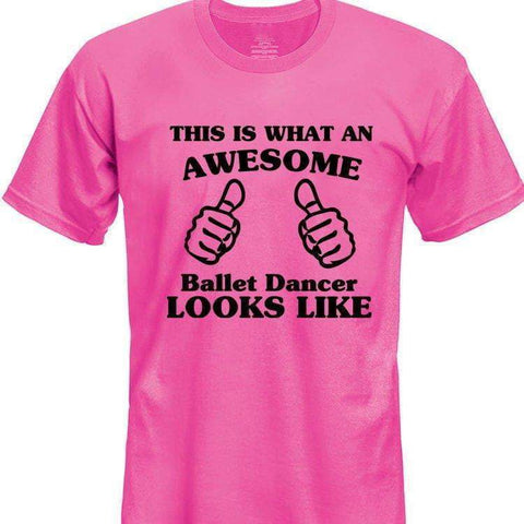 This is What an Awesome Ballet Dancer Looks Like T-Shirt Kids-WaryaTshirts