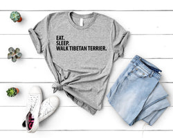 Tibetan Terrier T-Shirt, Eat Sleep Walk Tibetan Terrier shirt Mens Womens Gifts-WaryaTshirts