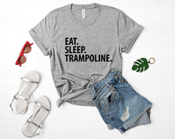 Trampoline shirt, Gymnast shirt, Eat Sleep Trampoline t-shirt Mens Womens