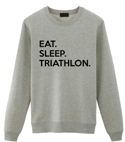 Triathlon Sweater, Eat Sleep Triathlon Sweatshirt Mens Womens Gifts-WaryaTshirts