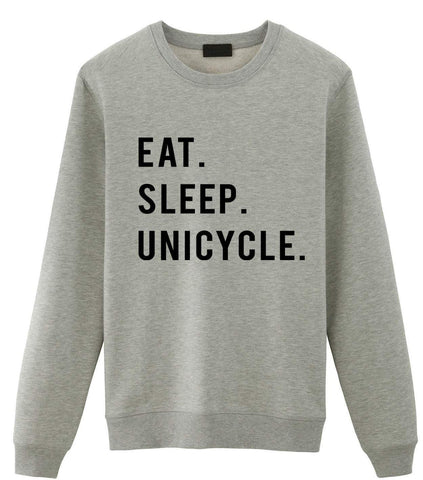 Unicycle Sweater, Eat Sleep Unicycle Sweatshirt Gift for Men & Women-WaryaTshirts
