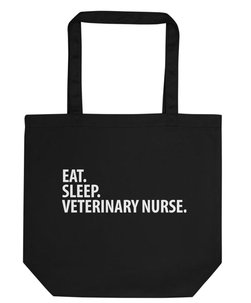 Veterinary Nurse Gift, Eat Sleep Veterinary Nurse Tote Bag-WaryaTshirts