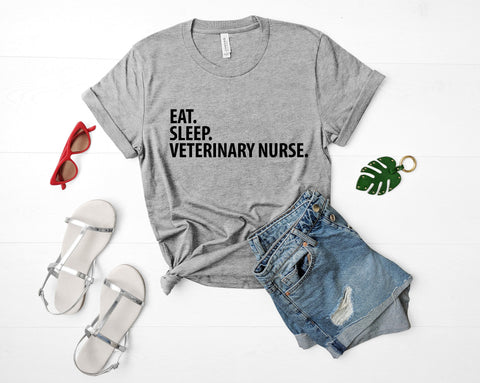Veterinary Nurse T-Shirt, Eat Sleep Veterinary Nurse shirt Mens Womens Gifts-WaryaTshirts