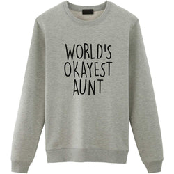 World's Okayest Aunt sweater