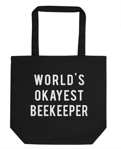 World's Okayest Beekeeper Tote Bag | Short / Long Handle Bags-WaryaTshirts
