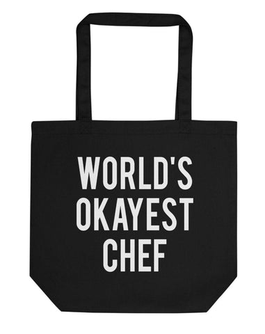 World's Okayest Chef Tote Bag | Short / Long Handle Bags-WaryaTshirts