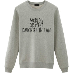 World's Okayest Daughter in Law Sweater