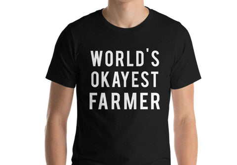World's Okayest Farmer T-Shirt-WaryaTshirts
