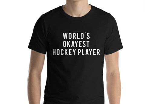 World's Okayest Hockey Player T-Shirt-WaryaTshirts