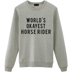 World's Okayest Horse Rider Sweater