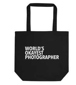 World's Okayest Photographer Tote Bag | Short / Long Handle Bags-WaryaTshirts
