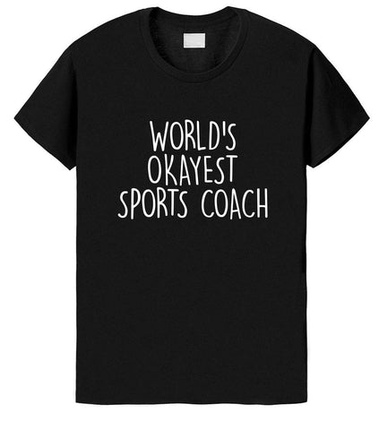 World's Okayest Sports Coach T-Shirt-WaryaTshirts