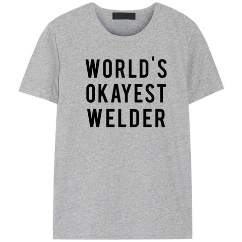 World's Okayest Welder T-Shirt-WaryaTshirts