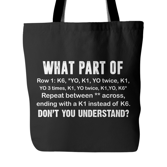 Understand Knitting Pattern Tote Bag — TwentyGears