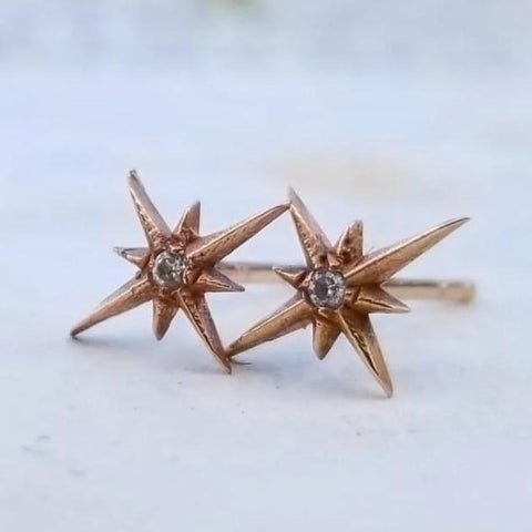 Glimmer Star Diamond Studs - Magick Alchemy