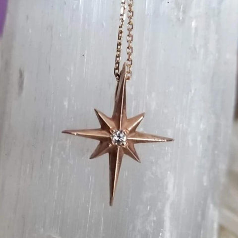 Glimmer Star Diamond Necklace - Magick Alchemy