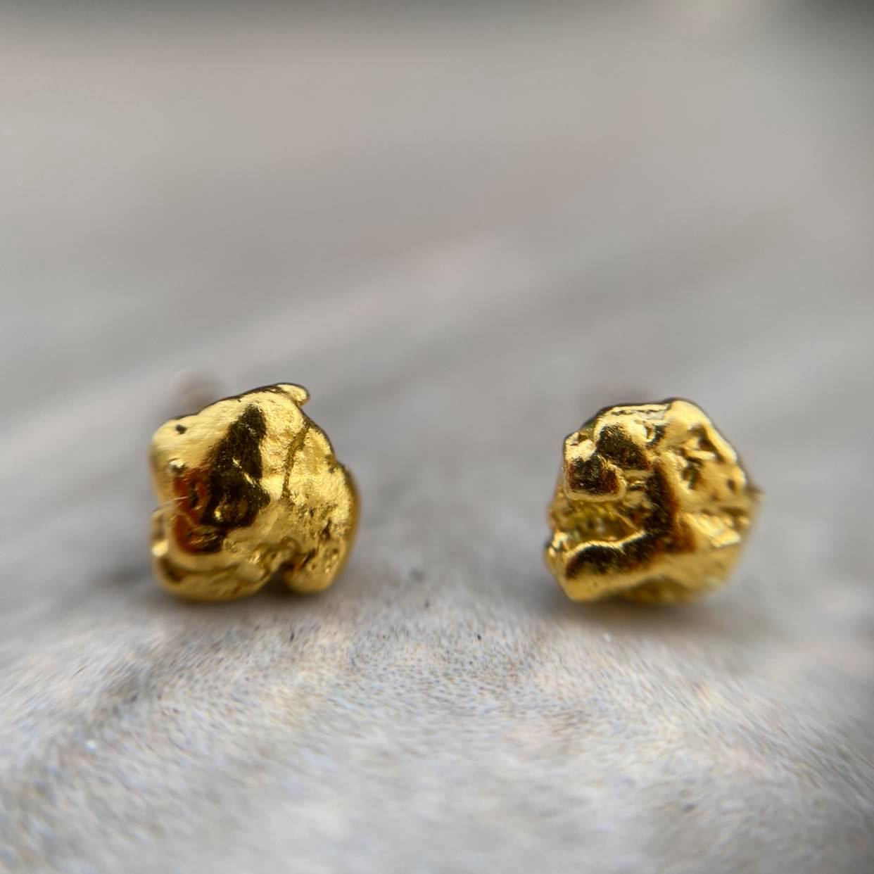 Gold Nugget Studs - Magick Alchemy