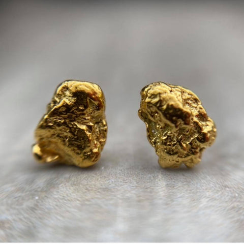 Gold Nugget Studs