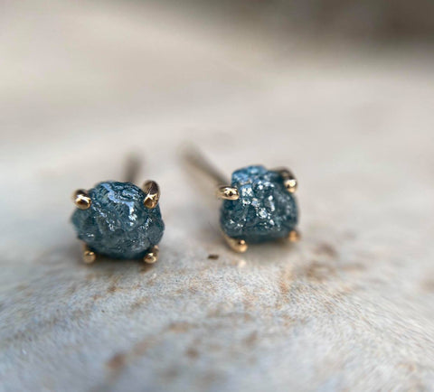 Blue Diamond Studs - Magick Alchemy
