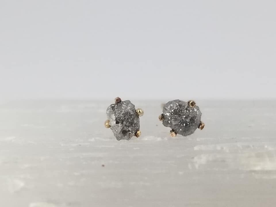 Grey Diamond Studs - Magick Alchemy